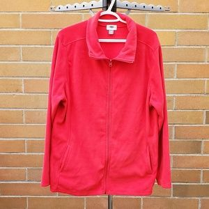 OLD NAVY - Micro Performance Fleece Zip Red 🌺